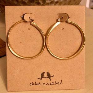 Chloe + Isabel gold hoop earrings